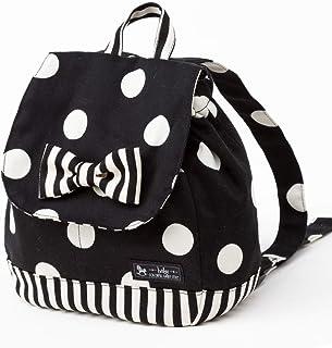 ベビーリュック 赤ちゃん polka dot large(twill・black) B1604300