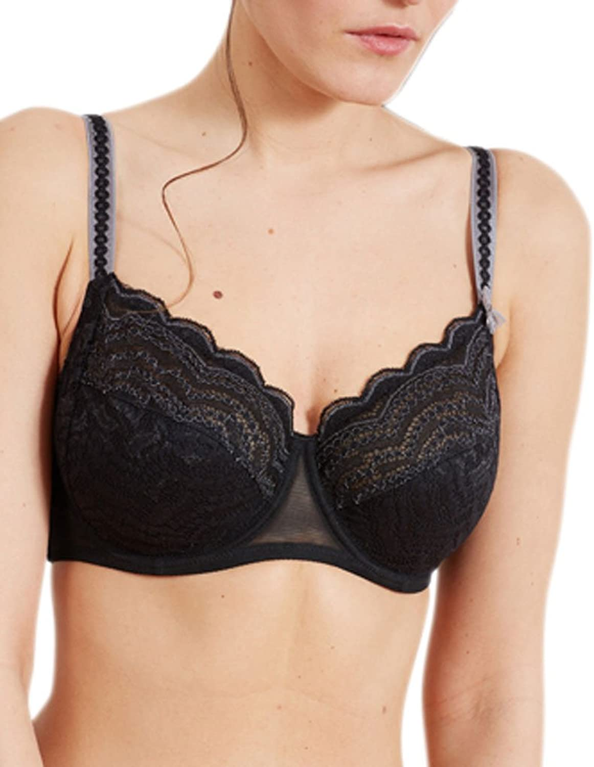 Barbara 222512 Women's Aventure Black Lace Full Cup Bra