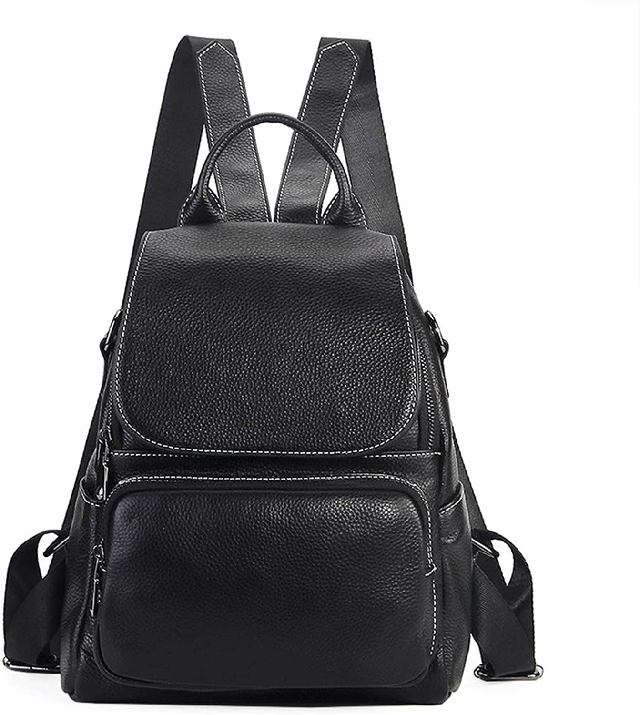 Women Backpack School Backpack Genuine Leather