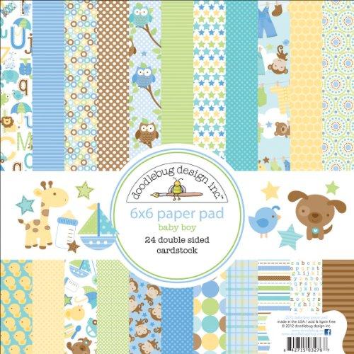Doodlebug Papier Snips und Schnecken Papier Pad 6x 6-inch-24doppelseitig Karton Blatt