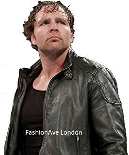 Men's Dean Ambrose Real and Leather Jacket