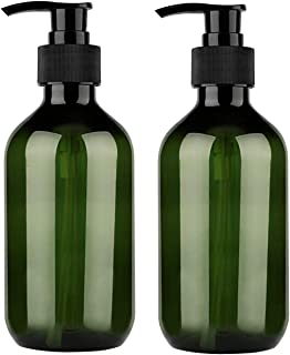 Yebeauty 300ml 10oz Empty Plastic Pump Bottles, Pump Bottle 2 Pack Pump Lotion Dispenser Empty Bottle with Pump Multipurpose for Emulsion Shampoo or Body Wash Bottle,Green