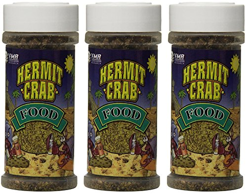 Florida Marine Research 3 Pack of Hermit Crab Food, 4 Ounces each