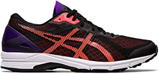 ASICS - Mens Heatracer 2 Sneaker, Size: 8.5 D(M) US, Color: Black/Flash Coral