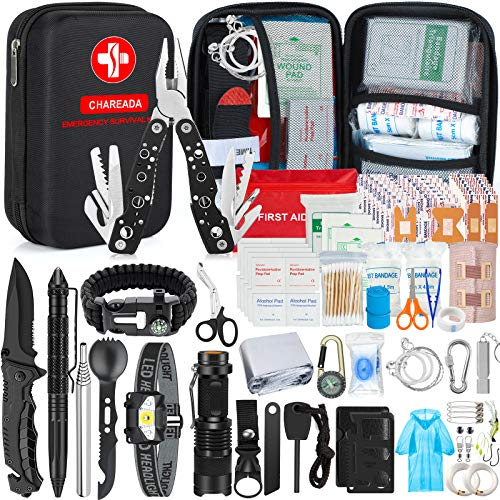 Emergency Survival Kit 176pcs Gifts for Men Dad Husband Survival Gear Tool Kit Survival Tool...