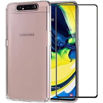 Samsung Galaxy A80 / A90 Funda + Cristal Protector de Pantalla ...