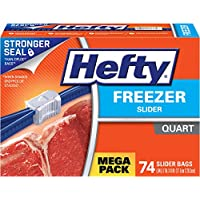 74-Count Hefty Slider Quart Freezer Bags