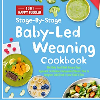 Blw Baby Food Cookbook: 1001 Baby Led Weaning Book Recipe Happy Toddler Days: Stage-By-Stage Approach to Introduce Indepen...