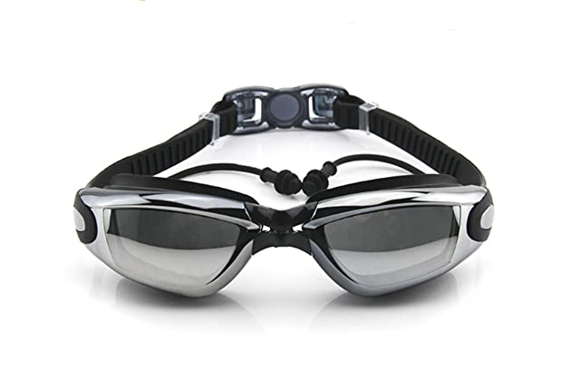 49edfc7a4f Corrective Nearsighted Swimming Goggles(Prescription 2.0-8.0 Diopters) with  Ear Plug Connect to-100% Highest Grade UV Protection and Anti-Fog
