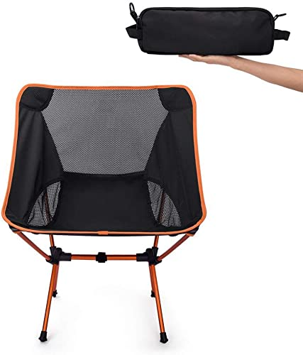 MXueei - Chaises Pliante, Camping en Plein air sur Plage Ultra-légère, randonnée, Chaise Portable Pliante et légère, Orange