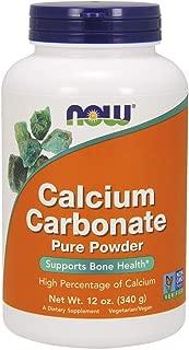 NOW Supplements, Calcium Carbonate Powder, 12-Ounce