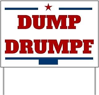CafePress Dump Drumpf Yard Sign, Vinyl Lawn Sign, Political Election Sign