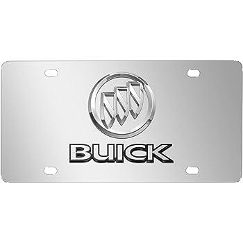 Buick Enclave Polished Steel License Frame Au-Tomotive Gold INC