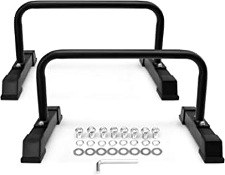 Yes4All Steel Parallettes Push-Up Bars with Non-Slip Rubber Feet 24x12""