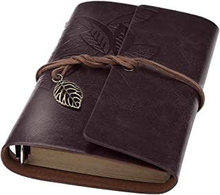 Leather Bound Journal, BEYONG Travelers Notebook for Men Women Gifts (7 Inch, Coffee)