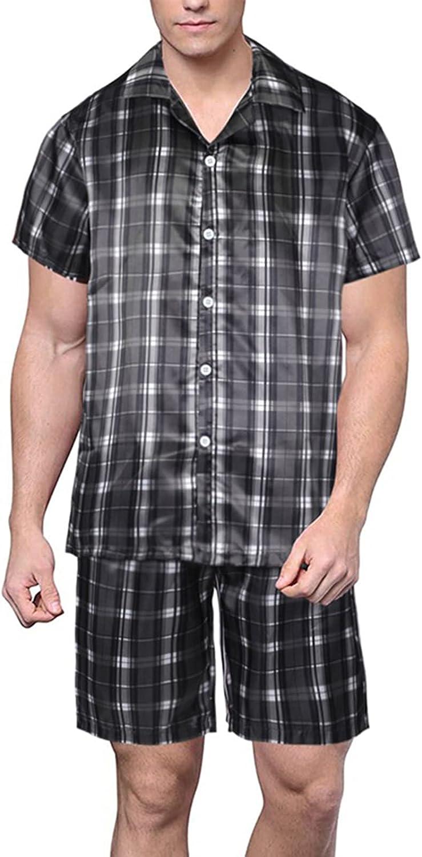 GAOword Men's Topics on TV Satin Pajama Set Free shipping Classic Short and S Sleeve