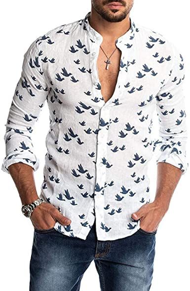 Loeay Camisas con Estampado de Pato Casual de Moda para ...