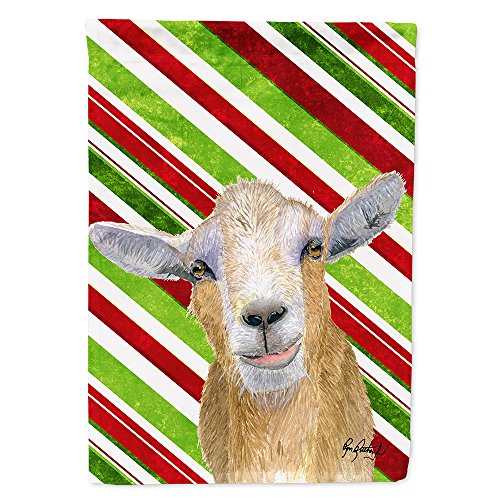Caroline's Treasures RDR3022CHF Candy Cane Goat Christmas Flag Canvas House Size, Large, Multicolor