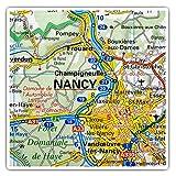 Impresionantes pegatinas cuadradas (juego de 2) 7,5 cm – Nancy Riverfront Francia, mapa de viaje francés, calcomanías divertidas para portátiles, tabletas, equipaje, reserva de chatarras, neveras, regalo genial #45823