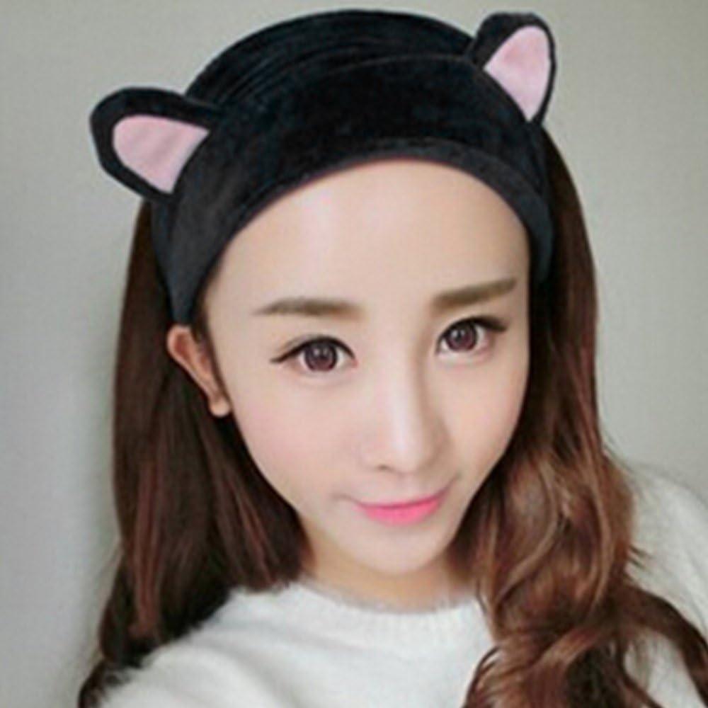 Gilroy Womens Girls Cute Cat Ears Headband Makeup Hairband Tool