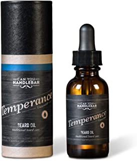 Temperance - Unscented Fragrance-Free Hypoallergenic - Premium Beard Oil for Men   1oz. Amber Bottle with Dropper Top