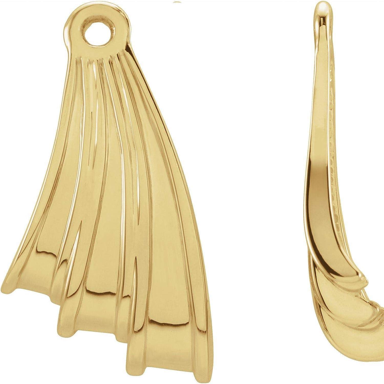14k Yellow Gold Freeform Earring Jackets for Women