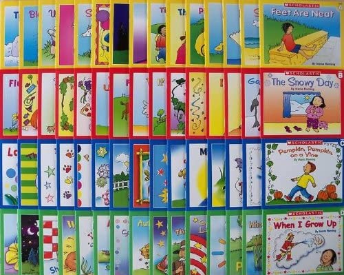 60 Scholastic Easy Leveled Readers Phonics Early Guided Reading Lot 15 Books Per Levels A B product image