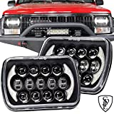 105W Brightest 5''x7''/7''x6'' Projector Cree Led Headlights with DRL for Jeep Wrangler YJ Cherokee XJ H6054 H5054 H6054LL 69822 6052 6053 Toyota pickup(Black Pair)
