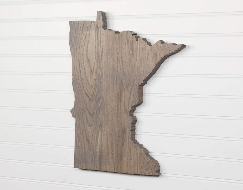 Minnesota Max 77% OFF State Shape Wood Cutout Wall Sign Custom Arlington Mall A Handcrafted