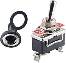 Podoy Momentary Switch Toggle Rocker Heavy Duty with Boot for 15A 125V SPDT 3 Position (ON)-Off-(ON) Spring Loaded Toggle Switch