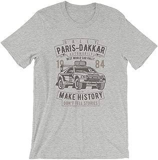 Rally Paris Dakar Automobile T-Shirt. 100% Cotton Premium Tee