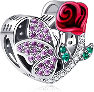 NINGAN I Love Mum Wife Sister Daughter Charms fit Pandora Charms Bracelets, 925 Sterling Silver Charm Bead for Necklaces, ...