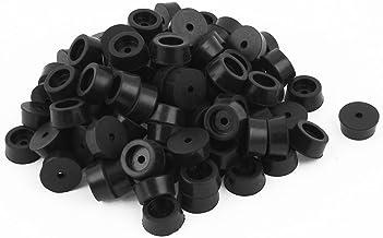 DealMux 100 stks 18mm x 8mm Conische Rubber Meubels Bumper Voetdeksel Pad Zwart