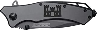 NDZ Performance Army Corps Engineers Engraved TAC-Force TF-820GY Speedster Model Folding Pocket Knife