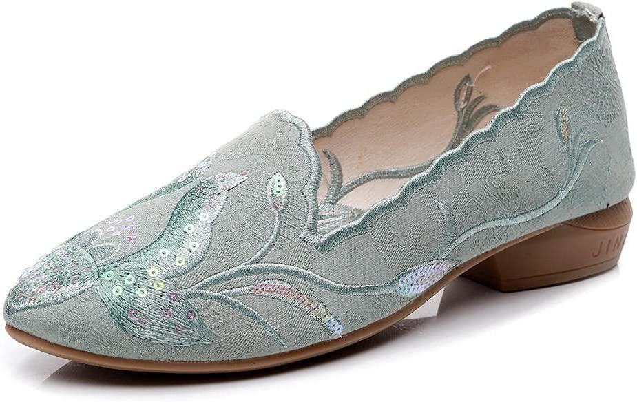 SYXYSM Shoes New sales Women Pointed Toe Houston Mall Flats Finish Jacquard High Ballet