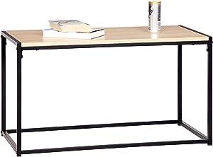 WOLTU TS46hei Table Basse Table à thé en Acier et MDF 80x40x45cm(LxPxH)
