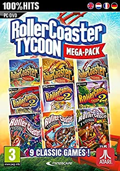 RollerCoaster Tycoon 9 Mega Pack  PC DVD