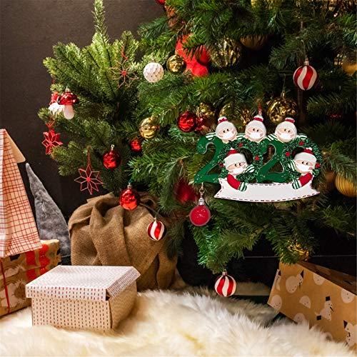 YancLife 2 adornos de Navidad, decoración personalizada del hogar para una familia de cinco, recuerdos característicos del árbol de Navidad, bolas de regalo creativas para niños