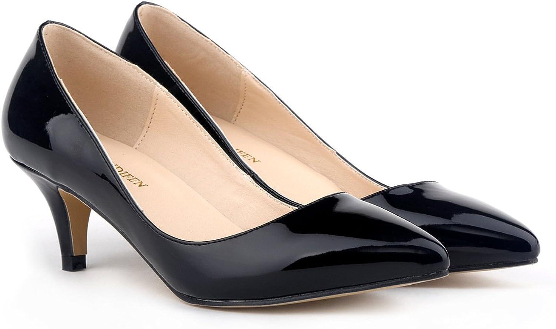 24XOmx55S99 Women's Fashion Pointed Toe Sweet Bowtie Stilettos High Heel Slip-On Suede Dress Pumps