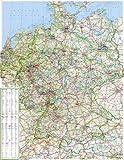 Große Deutschlandkarte 1:750 000 mit Ländergrenzen1-seitig, plano in Hülse     98 x 128,5 cm