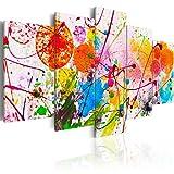 murando Cuadro en Lienzo Colorido 200x100 cm Impresión de 5 Piezas Material Tejido...