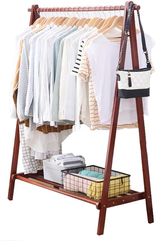 Coat Rack Floor Bedroom Wooden Clothes Rack Creative Hanger yijia001 (Size   75cm148.5cm)