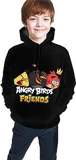 Wangfone Funny Angry-Bird Teens Pullover Long Sleeve 3D Printing Hooded T-Shirt