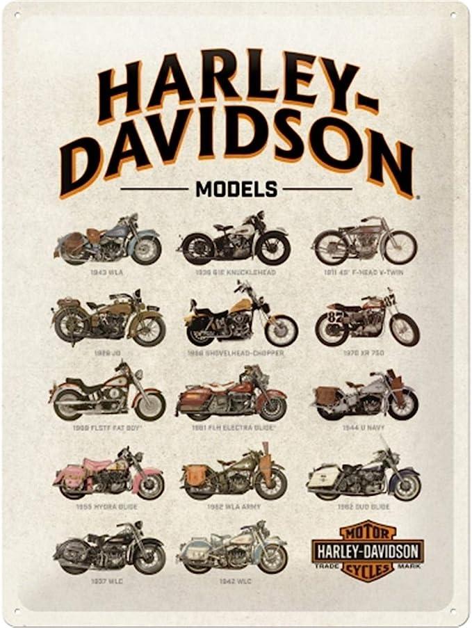 207 opinioni per Nostalgic-Art Targa Vintage Harley-Davidson – Model Chart – Idea Regalo per