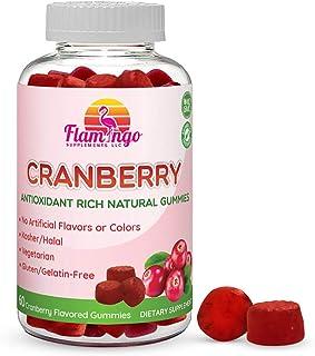Cranberry Gummy Supplement for Women, Men, and Kids. 1000 mg, Vegan, Vegetarian, No Gluten, Gelatin or GMO. Kosher and Hal...