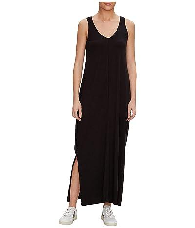 Michael Stars Trina Cotton Modal V-Neck Maxi Dress (Black) Women