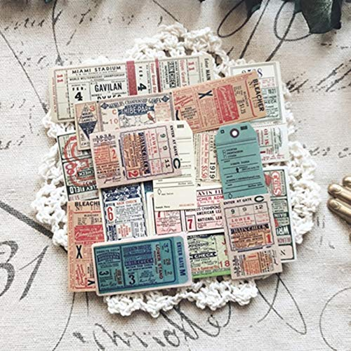 BLOUR Vintage ticket map stickers papier voor doe-het-zelf scrapbooking Happy Planner Card Making Journal project22pcs / Set