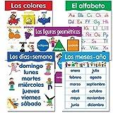 Creative Teaching Spanish Basic Skills, 5-Chart Pack (Colors, Alphabet, Geometry)