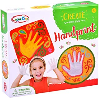 JADE DIY Hand Print Plaster Impressions kit – Do it Yourself Crafts for Kids – DIY Hand Print Impression kit for Boys/ Girls
