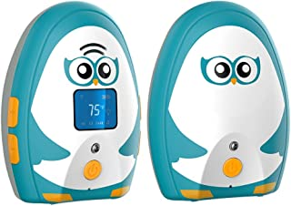 Timeflys Audio Baby Monitor Mustang Vibration Two Way Talk LCD Display Temperature Monitoring and Warning Lullabies Night ...